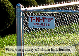 Link to access residential chain link gallery of pictures